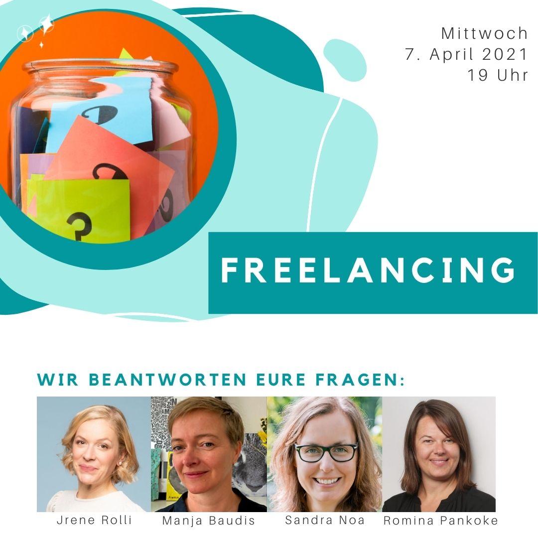 """WiV DE Event """"Glas voller Fragen"""" zum Thema Freelancing"""
