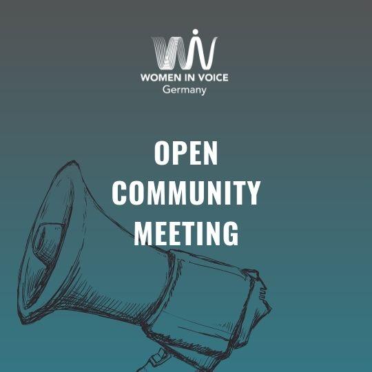 WiV DE Open Community Meeting