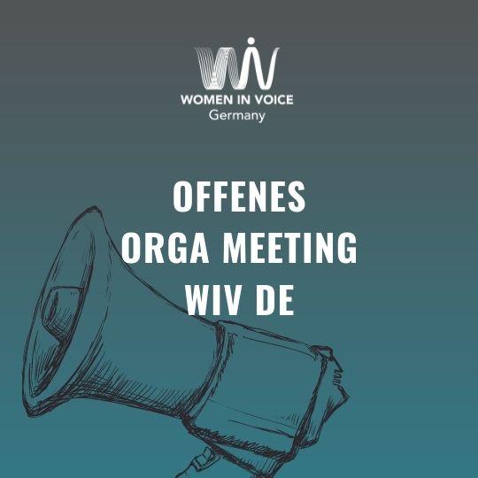 WiV DE Open Orga Meeting